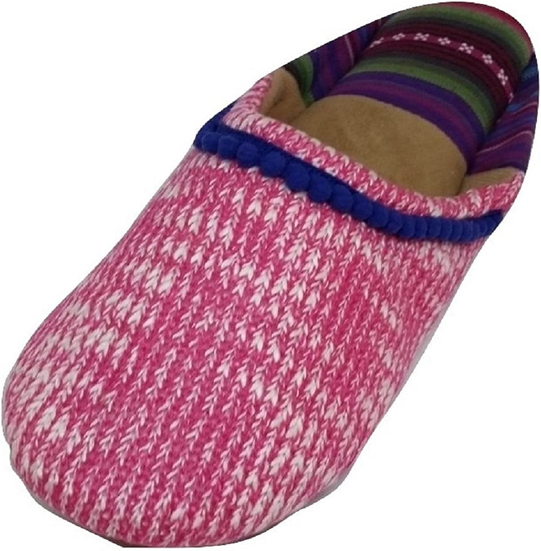 Dearfoams Women's Summer Knit Closed Toe Scuff