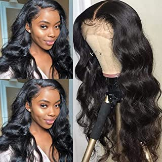 Body Wave Human Hair Wigs for Black Women 4x4 Lace Closure Wig Brazilian Human Hair Pre Plucked with Baby Hair 150% Densit...