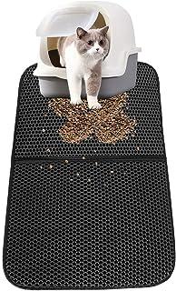 Kattströ, ZoneYan kattlåda matta stor, kattmatta för toalett, kattmatta dubbla lager, kattlåda matta, kattlåda underlag va...