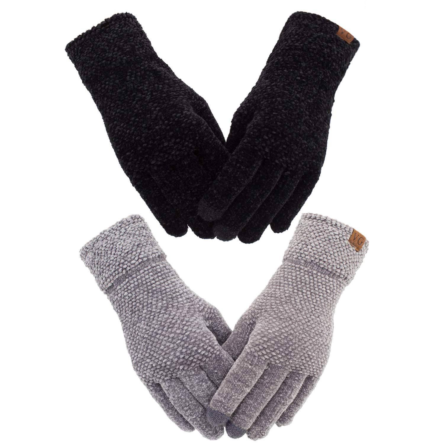 Chenille Touchscreen Texting Elastic Thermal
