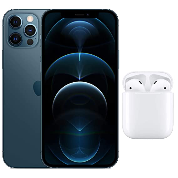 New Apple iPhone 12 Pro (256GB) - Silver with AirPods with Charging Case