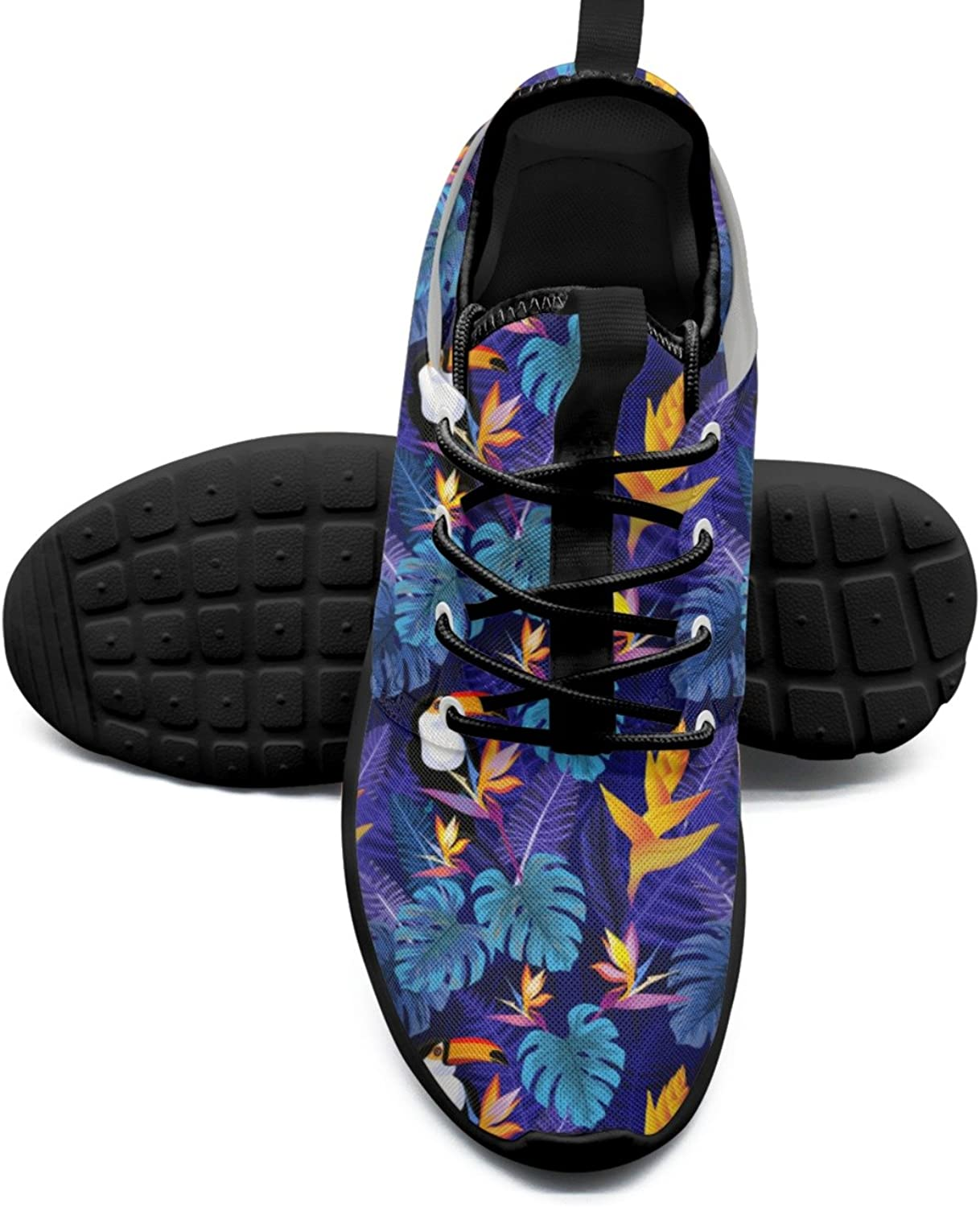 ERSER Flowers and Toucan Bird Cute Running shoes for Women