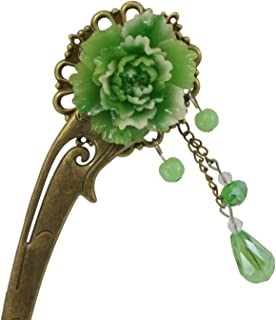 Chinese Traditional Style Hair Pins Stick Women's Hair Accessory (Green 2)