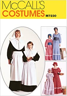 McCall's M7230 Women's Historical Pioneer and Pilgrim Costume Sewing Pattern, Sizes 20-22
