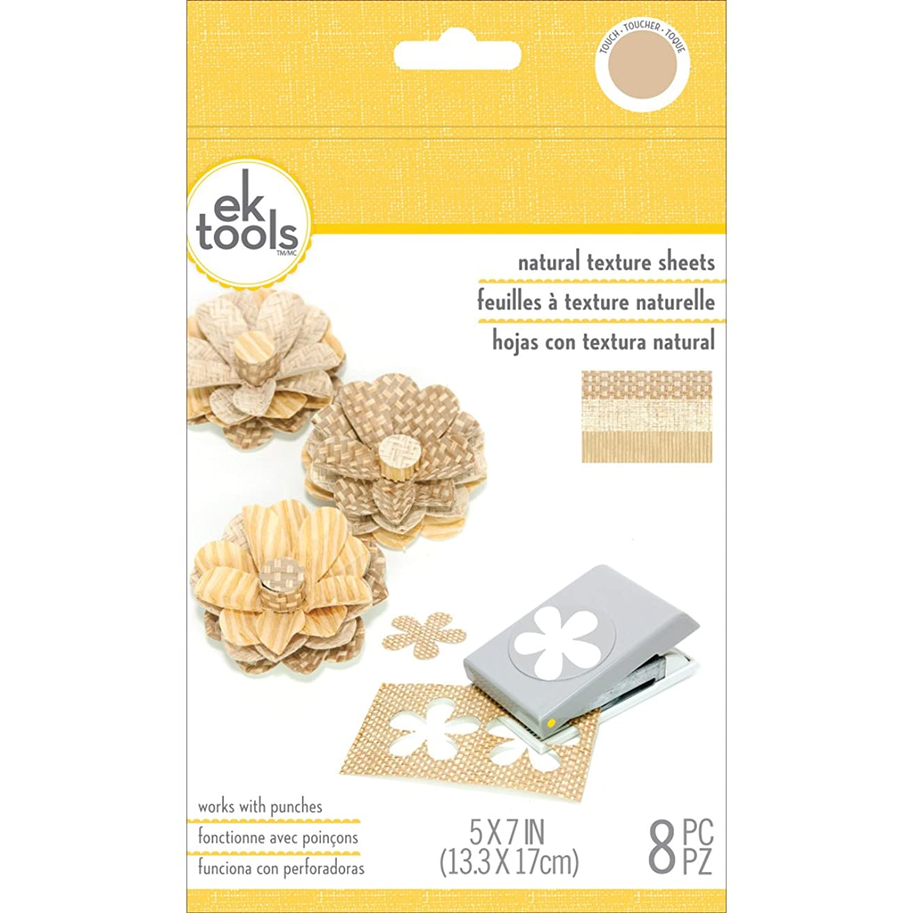 EK tools 55-59023 Natural Woven Texture Punch Material Pack