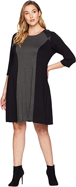 Plus Size Color Block Dress