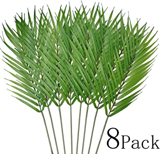 Bird Fiy 8 Pack Artificial Palm Leaves Faux Plants Palm Leaf Greenery Tropical Palm Tree Leaves for Palm Wedding Arrangement Jungle Party Decorations