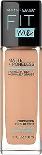 Maybelline Fit Me Matte + Poreless Liquid Foundation Makeup, Natural Buff, 1 fl. oz...