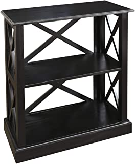 Casual Home Jackson Bookcase with Concealed Drawer, Concealment Furniture, Black