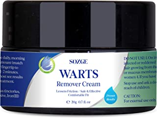 SOZGE Wart Cream- Maximum Strength - Wart Cream for Flat Warts, Plantar Warts, Common Warts - Corn, Callus - Lightweight - Easy-to-Use - Travel-Friendly