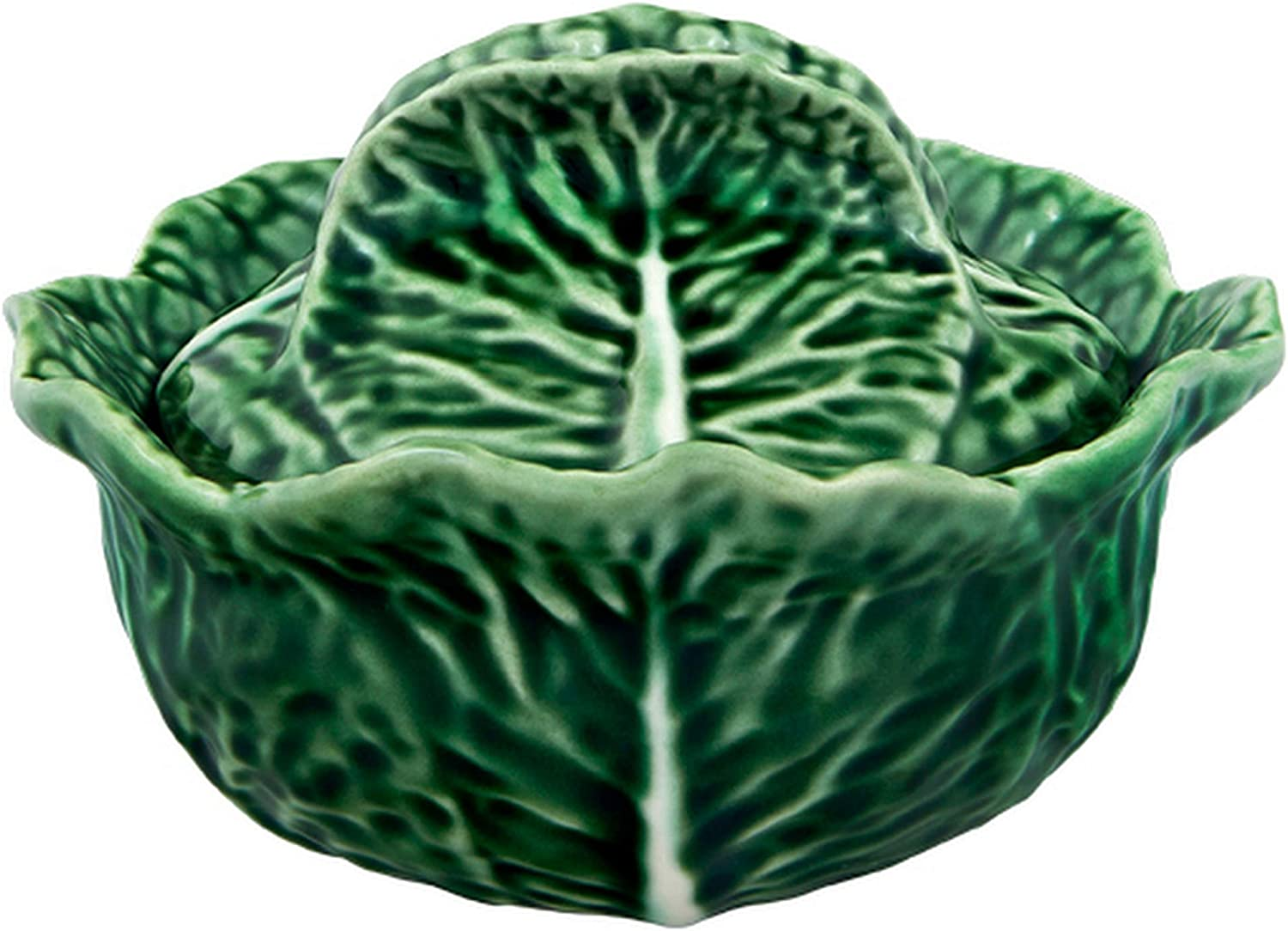 Amazon Com Bordallo Pinheiro Cabbage Tureen 13 Oz Green Tureens