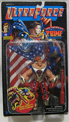 Ultraforce  5 All American Prime Ultra Hero Action Figure In Original Packaging With Accessories by Galoob