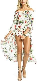 MeshMe Womens Danielle - Off Shoulder Skirt Train Over Shorts 2Fer Romper Dress