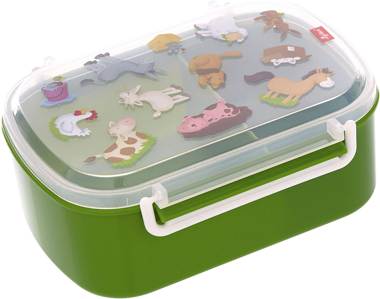 SIGIKID 25132 Ovejas paseanderas- Fiambrera sin BPA, para niños y niñas a partir de 2 años, color verde