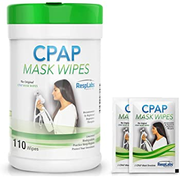 RespLabs Medical CPAP Mask Wipes - 110 Pack Bottle - Unscented