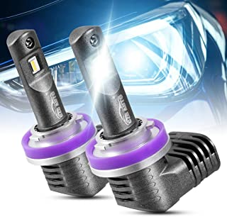 CZC AUTO H11 H9 H8 LED Headlight Bulbs 2 Pack Quick Install LED Headlamps Bright White Headlight Bulbs Waterproof LED Conversion kit, 6000K LED Headlight Replacement, 10000LM Super Bright Headlights