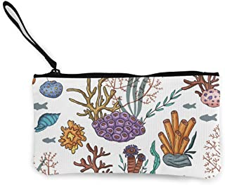 Yamini Seamless Reto Pattern Cute Looking Coin Purse Small and Exquisite Going Out to Carry Purse