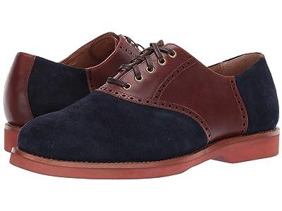 Polo Ralph Lauren Rhett Saddle (Navy/New Tan Suede/Heavyweight Smooth Leather) Men