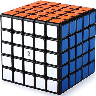 Speed Cube 5x5 5x5x5 Magic Puzzle Cube de Vitesse Magique Cadeau de Vacances pour Enfants Adultes (Autocollants PVC)
