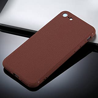 for iPhone 8 &7 Litchi Texture TPU Protective Soft Back Case (Color : Brown)