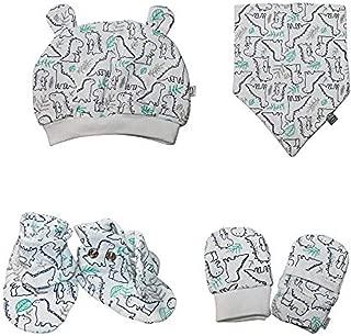 Darlyng & Co.'s Newborn Baby Essentials Gift Set (6 Pieces) 0-6 Months: Includes- Hat, Scratch Mitten, Bib, Booties