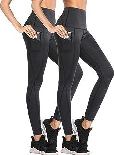 Neleus Women's Tummy Control High Waist Leggings with...