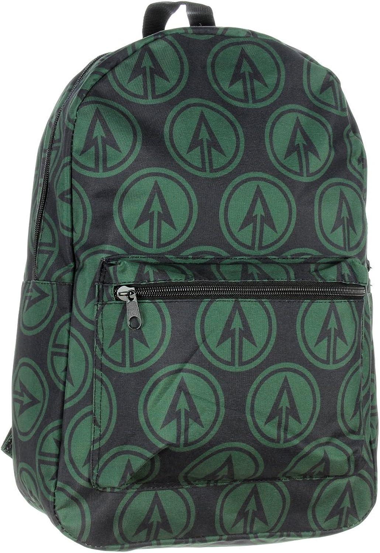 Green Arrow Backpack DC Comics Character Logo Print