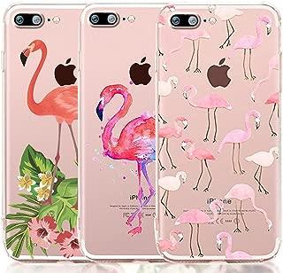 iPhone 8 Plus Case, iPhone 7 Plus Case, [3-Pack] CarterLily Cute Flamingos Design Pattern Soft Clear Flexible TPU Back Case for iPhone 7 Plus iPhone 8 Plus 5.5'' - Flamingos