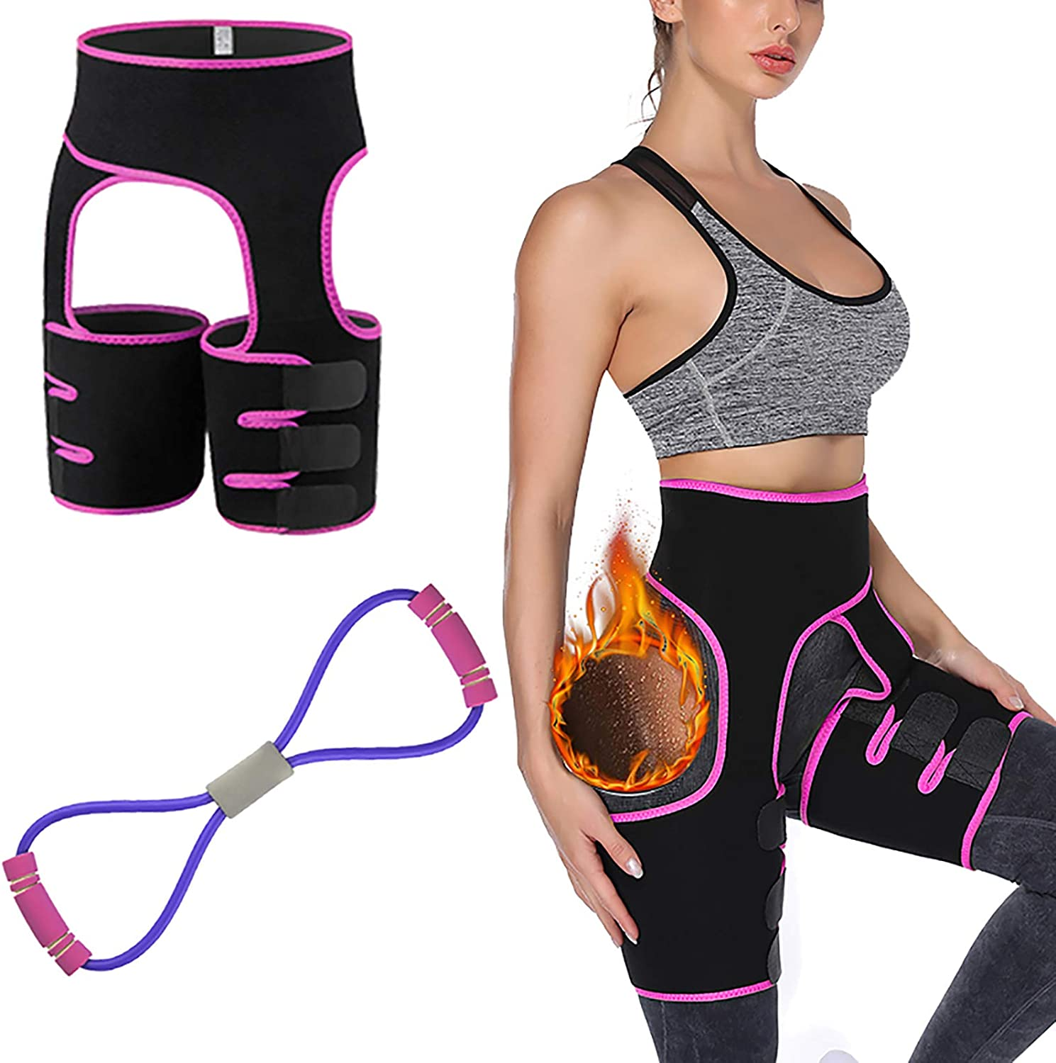 3-in-1 Waist Trainer Belt Thigh Butt Sweat Ranking TOP12 Genuine Free Shipping for W Lifter Trimmer