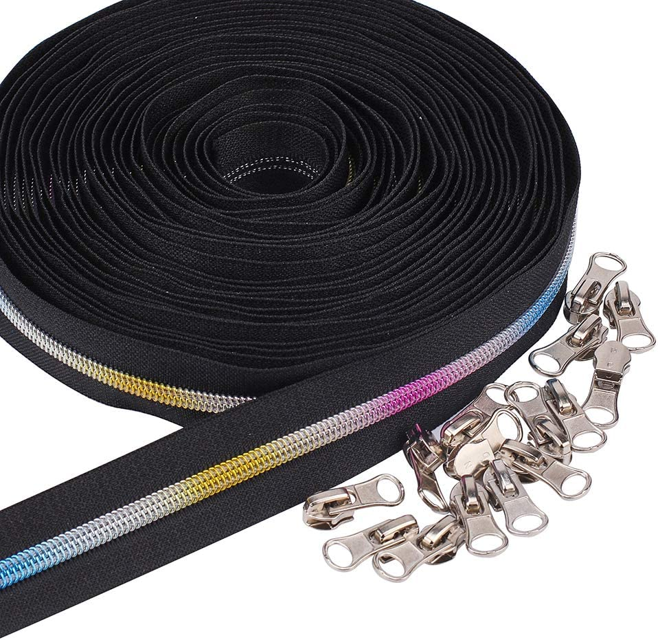 BENECREAT #5 Colorful Portland Mall Teeth 10 5 popular Zippers Metallic Nylon Coil Yards