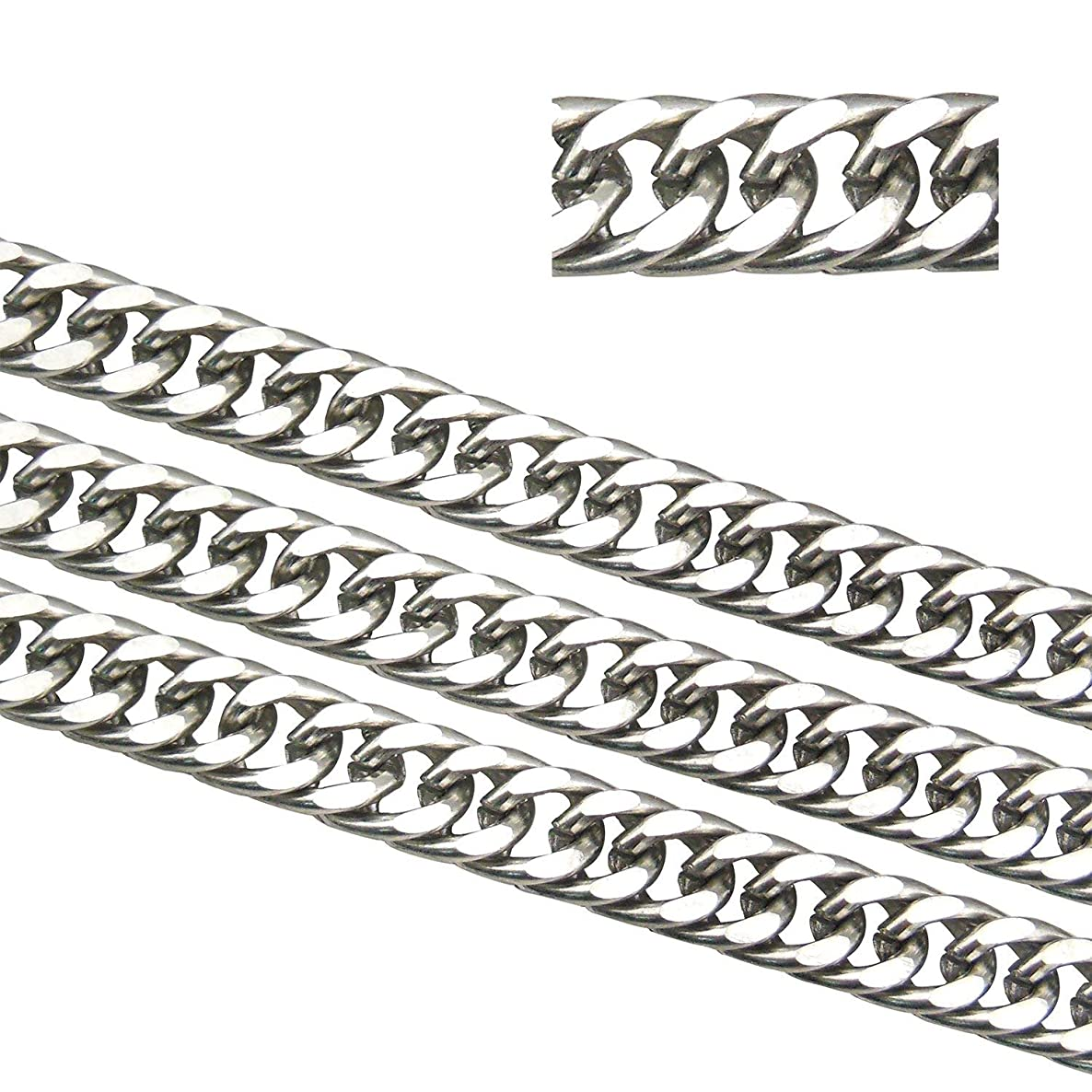 16.5ft 5mm Width Stainless Steel Link Chain Double Weave Chains Findings Fit for Jewelry Making &DIY (SC-1006-A)