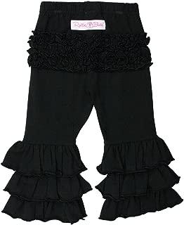 RuffleButts Baby/Toddler Girls Stretchy Flare Pants w/Ruffles