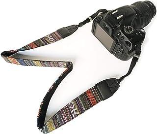 Bestele Cámara Correa De Hombro Cuello Cinturón Suave Vintage Impresión Correas Cámaras para DSLR/SLR/Nikon/Canon/Sony/Lumix/Fujifilm/Rico/Samsung/Pentax/Olympus Etc.(Retro)