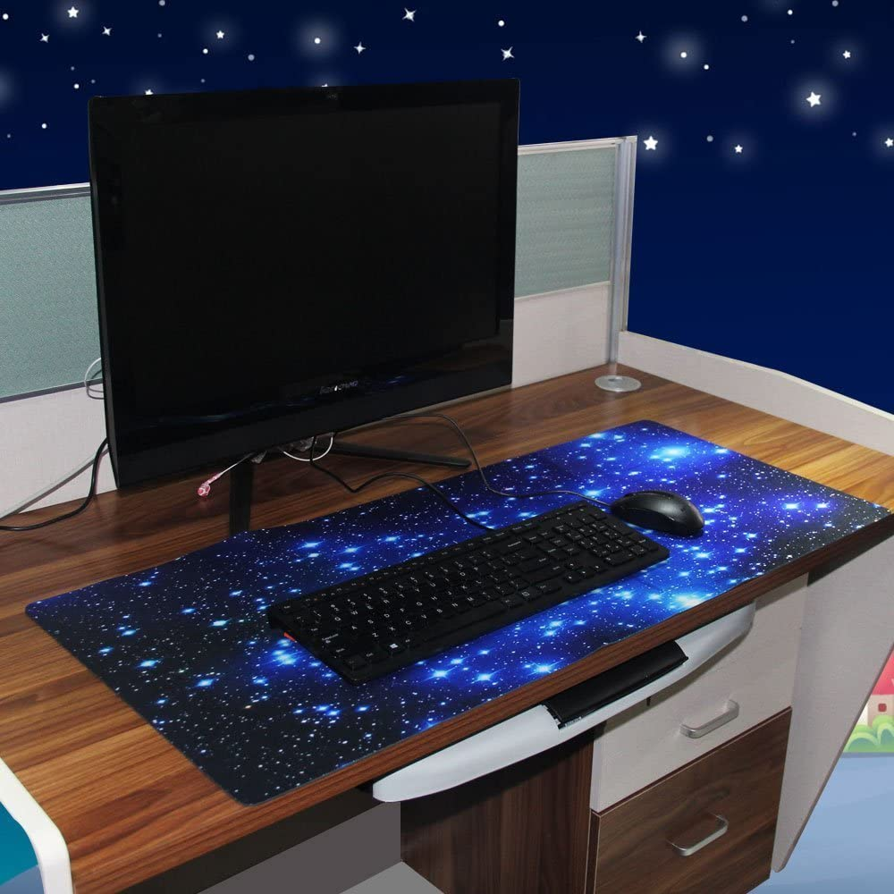 Sky Girl EONANT Extended Gaming Mauspad 900x400x2mm Anti-Rutsch Gummi M/äuse Pads mit Gen/ähten Kanten Wasserdicht Big Mouse Pad
