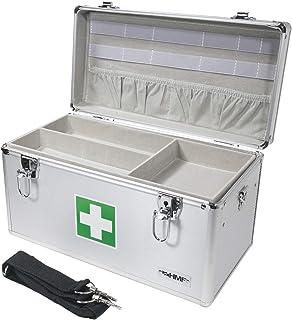 HMF 14701-09 Boîte Premiers Soins Vide, Boîte multi-usage à pharmacie, 40 x 22,5 x 20,5 cm