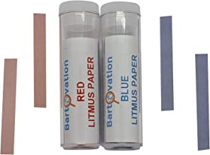 Red & Blue Litmus Paper Acid/Base Indicator Strips Combo Pack with 200 Strips | Qualitative No Color Chart Tests