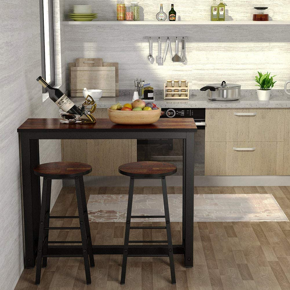 Buy Tribesigns 9 Piece Pub Table Set, Counter Height Kitchen Bar ...