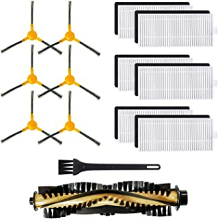 Replacement Accessories Parts for Tesvor X500 Robotic Vacuum Cleaner - Filters, Side Brushes, Rolling Brush (Pack of 13)