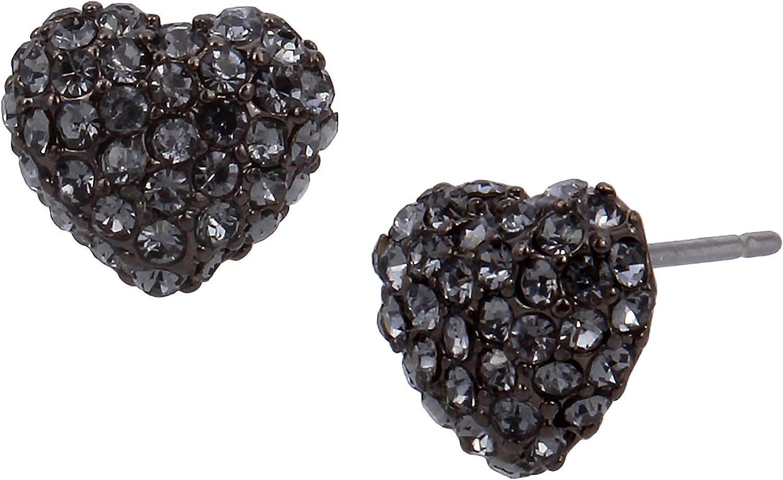 Pearl Heart Stud Earrings