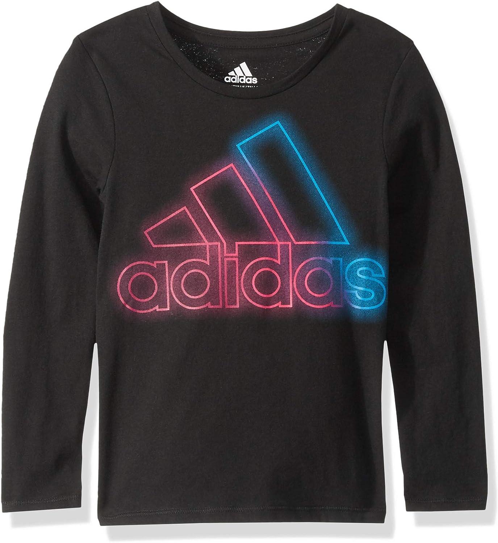 adidas Girls' Little Long Sleeve Logo Tee