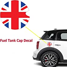 Ultra Thick Red Blue Union Jack Flag Plastic Vinyl Sticker For Mini Cooper Gas Cap Cover
