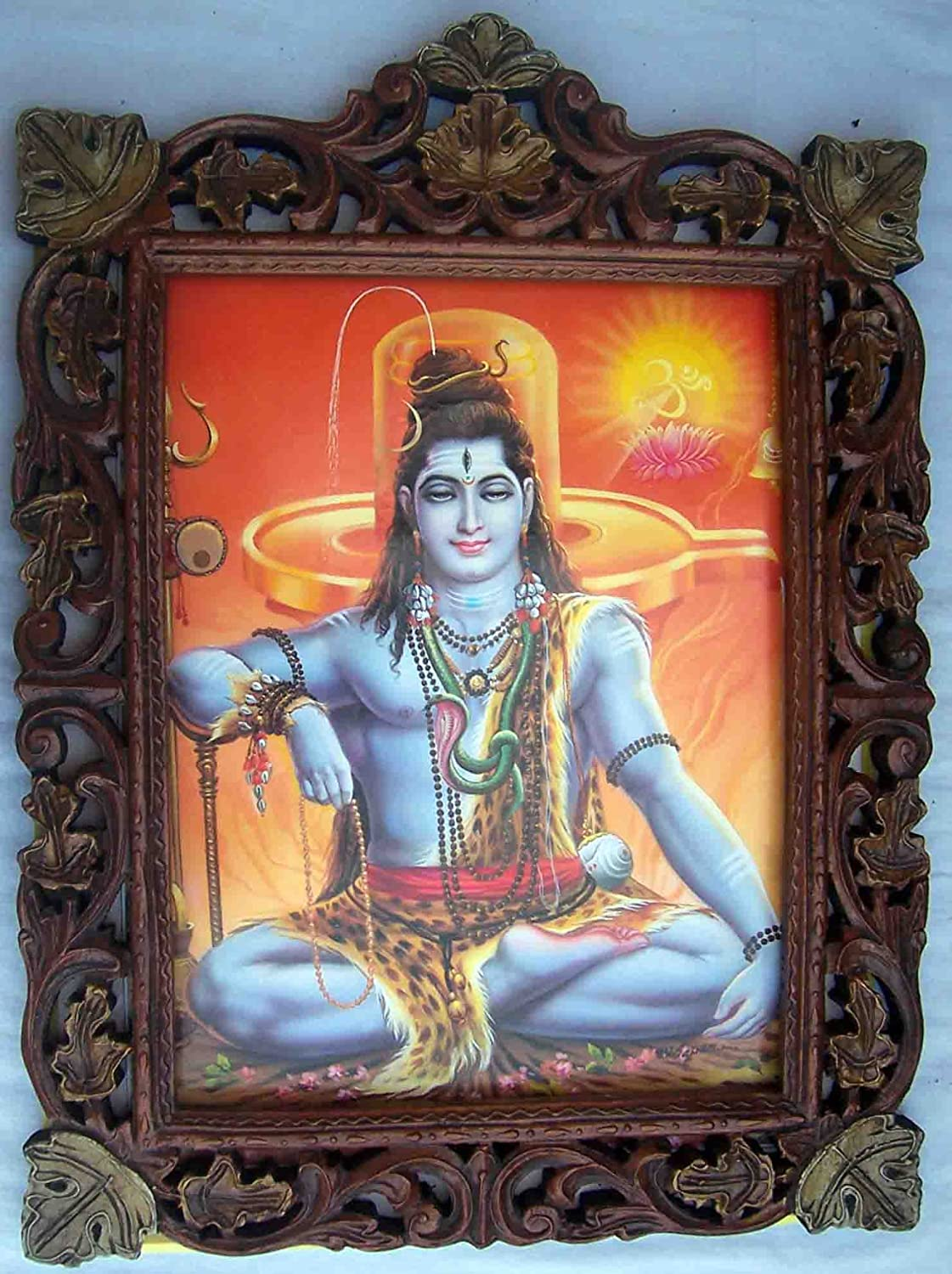 Hindu Lord Shiva Indefinitely Doing Meditation Popular standard Poster Shivling with Painting