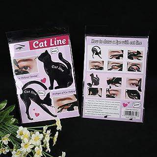 DDGE DMMS - Plantilla para delineador de ojos con forma de cola de gato, plantilla para cejas, salud y belleza