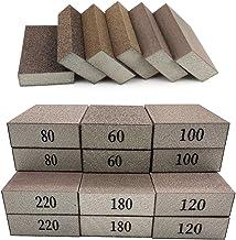 12 Pack Sanding Sponges,60 80 100 120 180 220 Sanding Block Coarse Medium Fine Grit for Pot Brush Pan Brush Sponge Brush G...