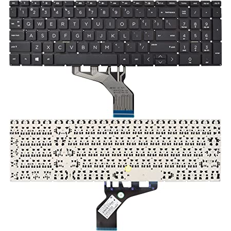 SUNMALL Replacement Keyboard Compatible with HP 250 G7 255 G7 15-DA 15-DB 15-DK 15-DR 15-DW 15-DU 15S-DU 15-DY 15s-DY 15s-EQ 15-EF 15s-FQ 15-GW 17-CA.Home 17-by Black US Layout