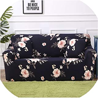 Huzzg Universal Slipcover Sofa Stretch Couch Cover Loveseat Sofa Furniture Cover Sofa Towel 1/2/3/4 Seater funda Sofa 1PC,Color 8,3-Seater 190-230cm
