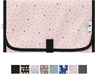 Baby Portable Changing Pad,Diaper Bag Changing Mat,Travel Changing Station,Compact and Waterproof,Pink