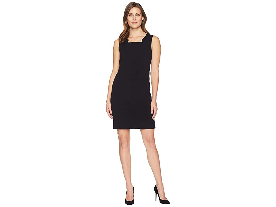 Nine West Sleeveless Modified Square Neck Dress (Black) Women