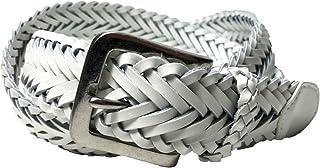 WING LEATHER レザー メッシュベルト 牛革 本革 メンズ レディース ロングサイズ 黒色 白色 ダークブラウン GTC001