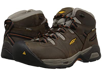 Keen Utility Detroit XT Mid Soft Toe Waterproof (Black Olive/Leather Brown) Men